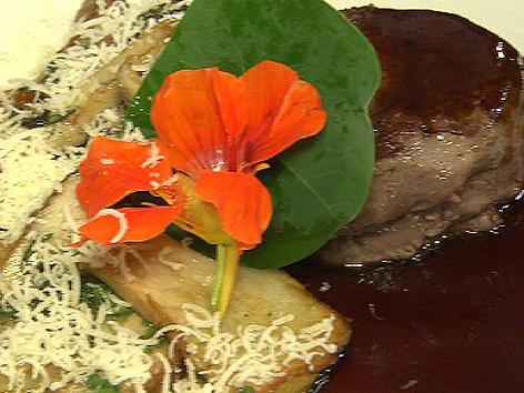 Steak mit Pilzen