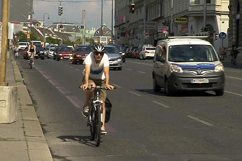 Radfahrer am Getreidemarkt