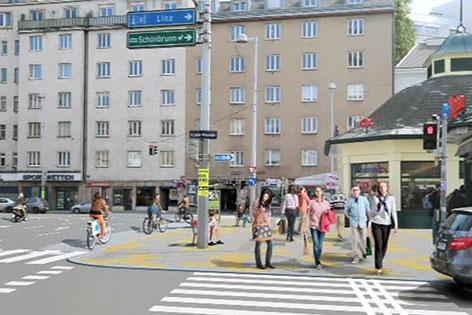 Projekt Umgestaltung Vorplatz Naschmarkt