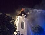 Brand Kirchturm Droß