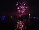 Feuerwerk beim Radio Wien Lichterfest an der Alten Donau