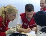 Rotes Kreuz im Einsatz für Menschen auf der Flucht