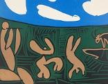 """Pablo Picasso, """"Bacchanal mit Stier"""", Frühjahr 1959, Vallauris"""