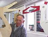 Storchenvater Holz Bauer