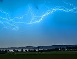Blitzschlag Blitz Gewitter Waginger See