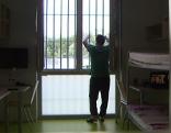 Häftling in einer Zelle in der Justizanstalt Puch-Urstein