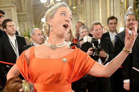 Agnes Husslein beim Opernball 2015