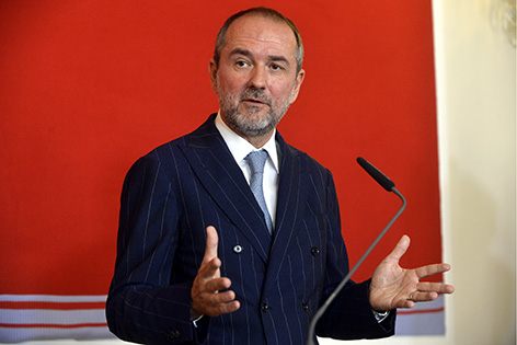 Kulturminister Thomas Drozda bei der Pressekonferenz