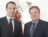 Christian Kern mit LH Günther Platter