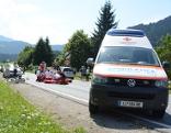 Loferer Bundesstraße Unfall mit Fahrradfahrerin
