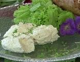 Räucherfischmousse auf Teller
