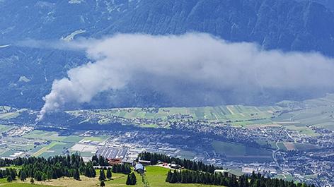 Rauchwolke über Lienzer Talboden