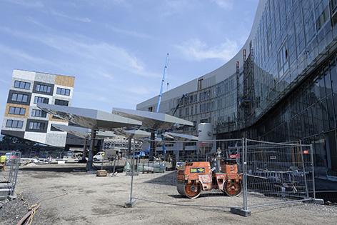 """Blick auf die Baustelle des """"Krankenhaus Nord"""""""