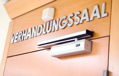 Verhandlungssaal am Wiener Landesgericht