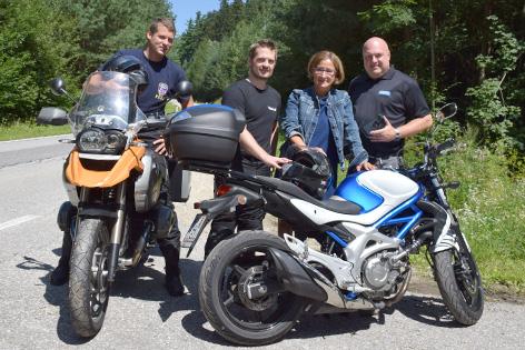 Philipp Gutlederer, Werner Richtsfeld, Johanna Mikl-Leitner und Christof Constantin Chwojka