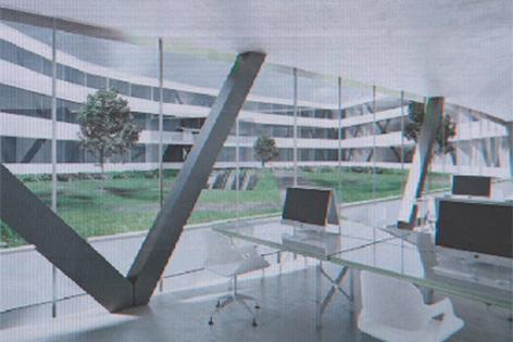 Model des Designzentrums beim Europark