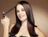 Frau langes Haar