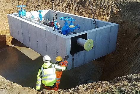 EVN Wasser Drucksteigeungsanlage Schönfeld