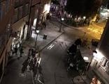 Gstättengasse und Anton Neumayr Platz in der Stadt Salzburg bei Nacht