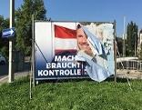 Wahlplakate Hofer Vandalismus