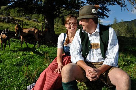 Sonja und Andreas Schoßleitner, Eislbauern aus St. Gilgen