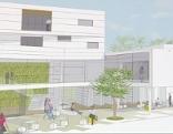 Plan für das neue Rathaus in Jennersdorf