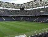 Das Salzburger Fußballstadion in Wals Kleßheim (Red Bull Arena)