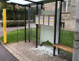 Vandalen Feldkirch Bushaltestelle