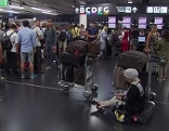 wartende Passagiere