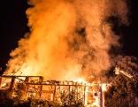 Brand eines Reiterhofes