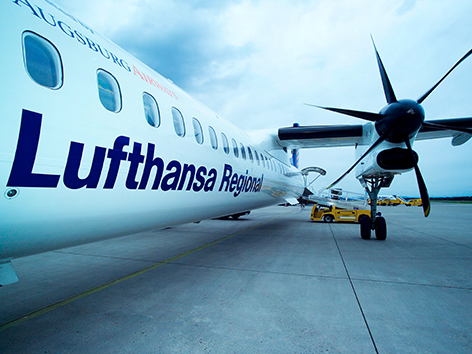 Lufthansa Flugzeug Graz