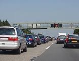 Verkehrsstau auf der Autobahn