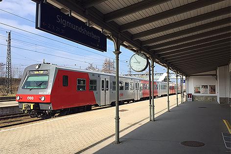 Franz Josefs Bahn Bahnhof Sigmundsherberg