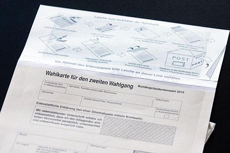 Wahlkarte BP-Wahl