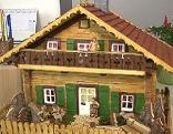Blockhaus mit 97 Jahren, Pflegeheim, Basteln