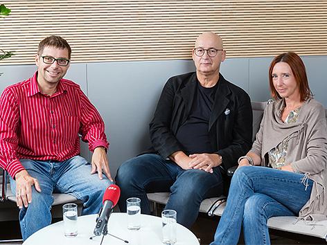 Werner Ranacher, Prof. Michael Lehofer und Sigrid Hroch
