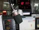 Mikrofin in einer Radiostudio