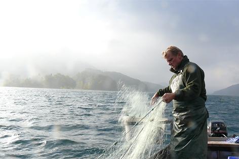 Fischer am Fuschlsee