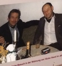 Václav Havel und Achim Benning, 1986