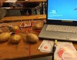 hacken mit Kartoffeln