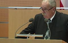 Erich Königsberger im Landtag