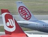 Flugzeuge von Air Berlin und Niki