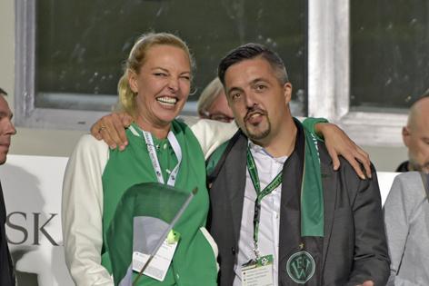 Diana Langes-Swarovski und Josef Gunsch