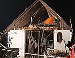Haus nach Explosion