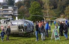 Bundesheer mit Leistungsschau am Nationalfeiertag Hubschrauber auf dem Krauthügel im Nonntal