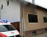 Löscheinsatz beim Küchenbrand im Einfamilienhaus in Neufeld