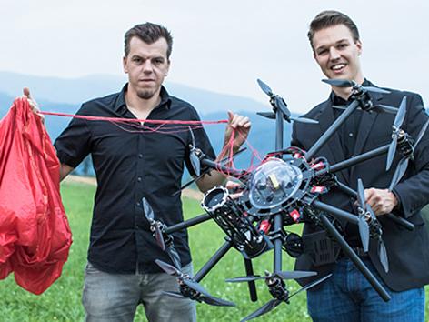 Fallschirm Drohne Graz