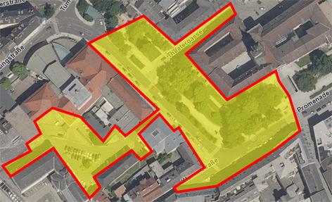 Karte des Platzverbotes in der Linzer Innenstadt