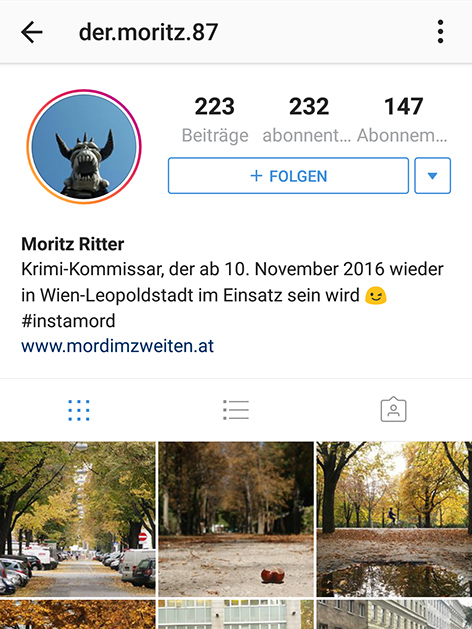 Krimi Instagram Soziale Netzwerke