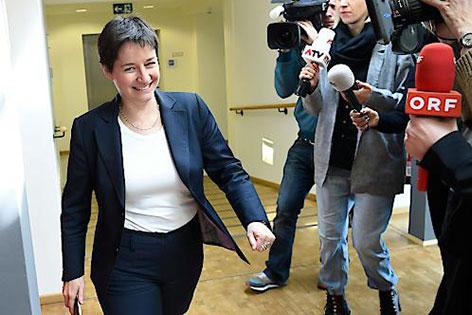 Sonja Wehsely und Journalisten